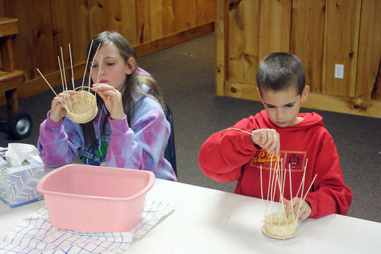 basket weaving with kids